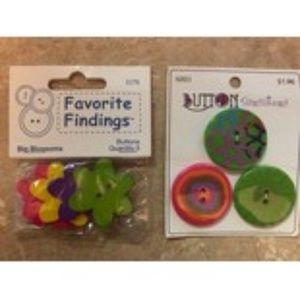 Favorite Findings Buttons & Button Sensations LOT